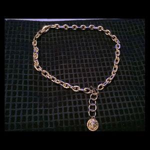 Vintage Anne Klein Gold Chain Belt.